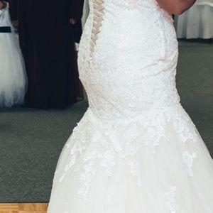 Maggie Sottero blush lace wedding dress